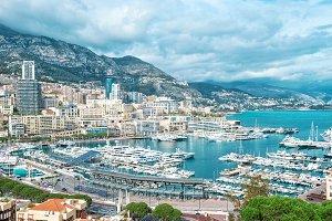 Monaco harbor Mediterranean Sea