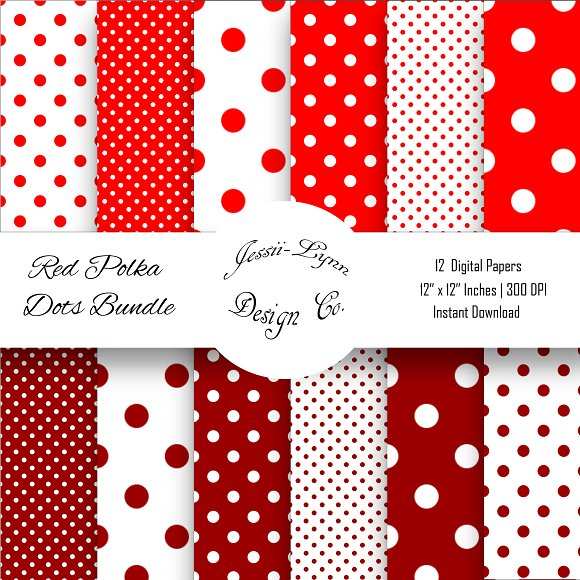 Red And White Polka Dots Bundle