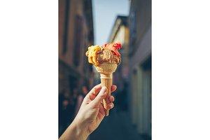 Italian ice cream.