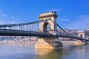 View Chain bridge, Budapest.