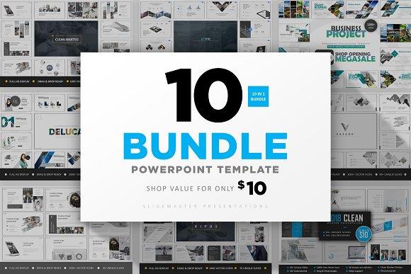 10 In 1 Clean Bundle Powerpoint