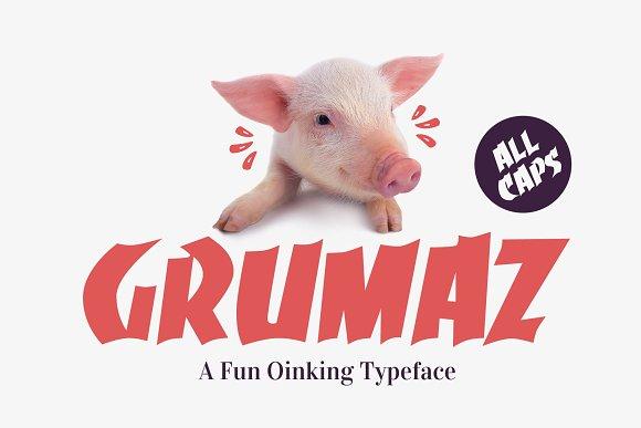Grumaz A Fun Oinking Display Font