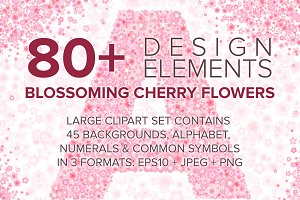 Cherry Blossom Font & Backgrounds