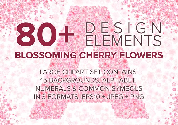 Cherry Blossom Font Backgrounds