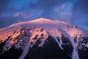 Stol mountain at sunset