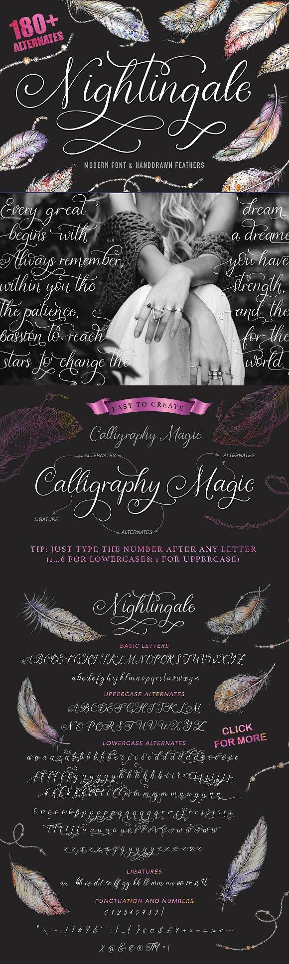 Nightingale Script Bonus Clip Arts