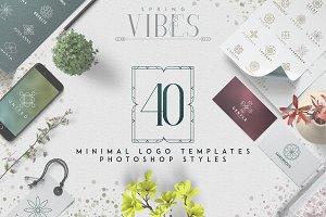 [Spring Vibes] 40 Minimal Logos -50%
