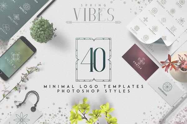 [Spring Vibes] 40 Minimal Logos -50…