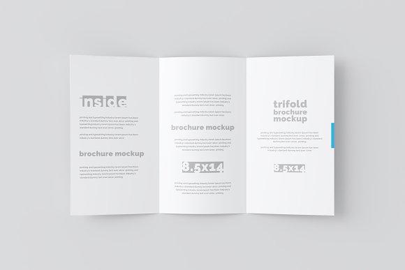 14x8 5 trifold brochure mockup product mockups creative market