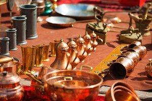 Retro arabic copper coffee pots