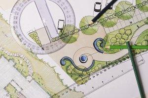 Garden drawings overhead