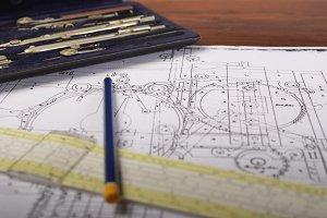 Drawing of machinery