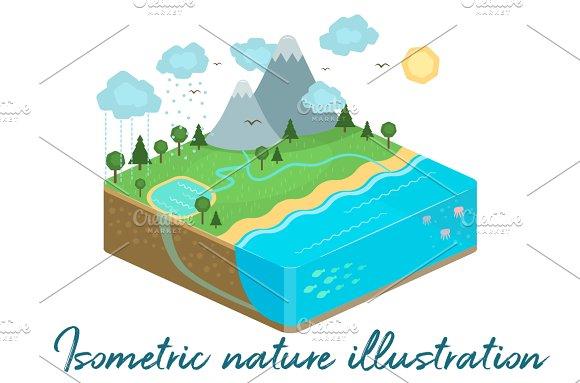 Isometric Nature illustration