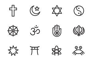 Religions icon set