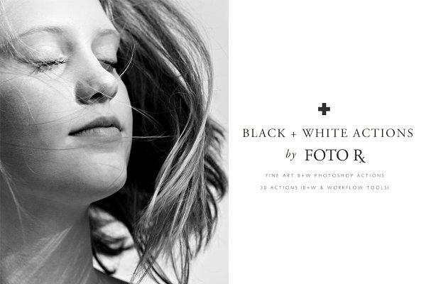 Actions: Foto Rx Co. - FINE ART BLACK + WHITE PS ACTIONS
