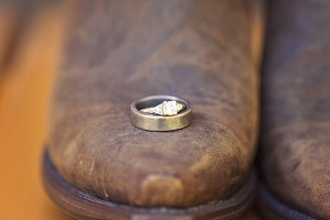 Wedding Rings on Boot