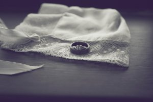 Black and White Wedding Rings