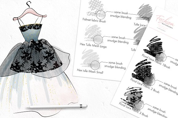 Procreate Fashion Illustration Set Unique Procreate Brushes Creative Market