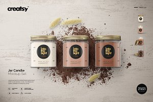 Jar Candle Mockup Set
