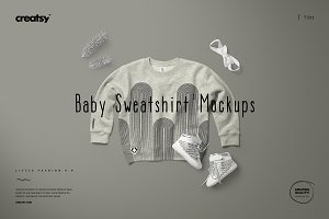 Baby Sweatshirt Mockup Set 1 Heather