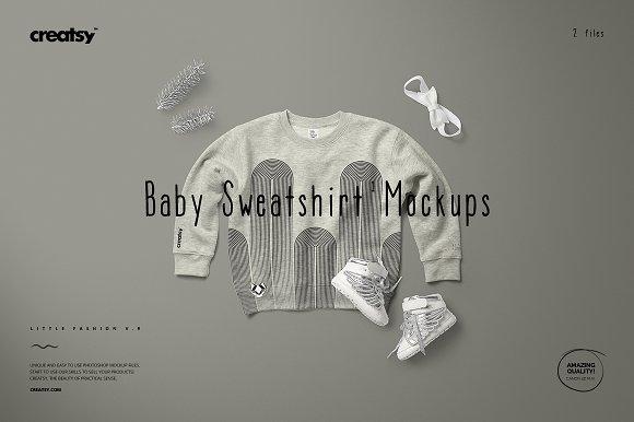 Baby Sweatshirt Mockup Set 1 Heather