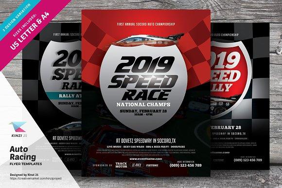 auto racing flyer templates flyers