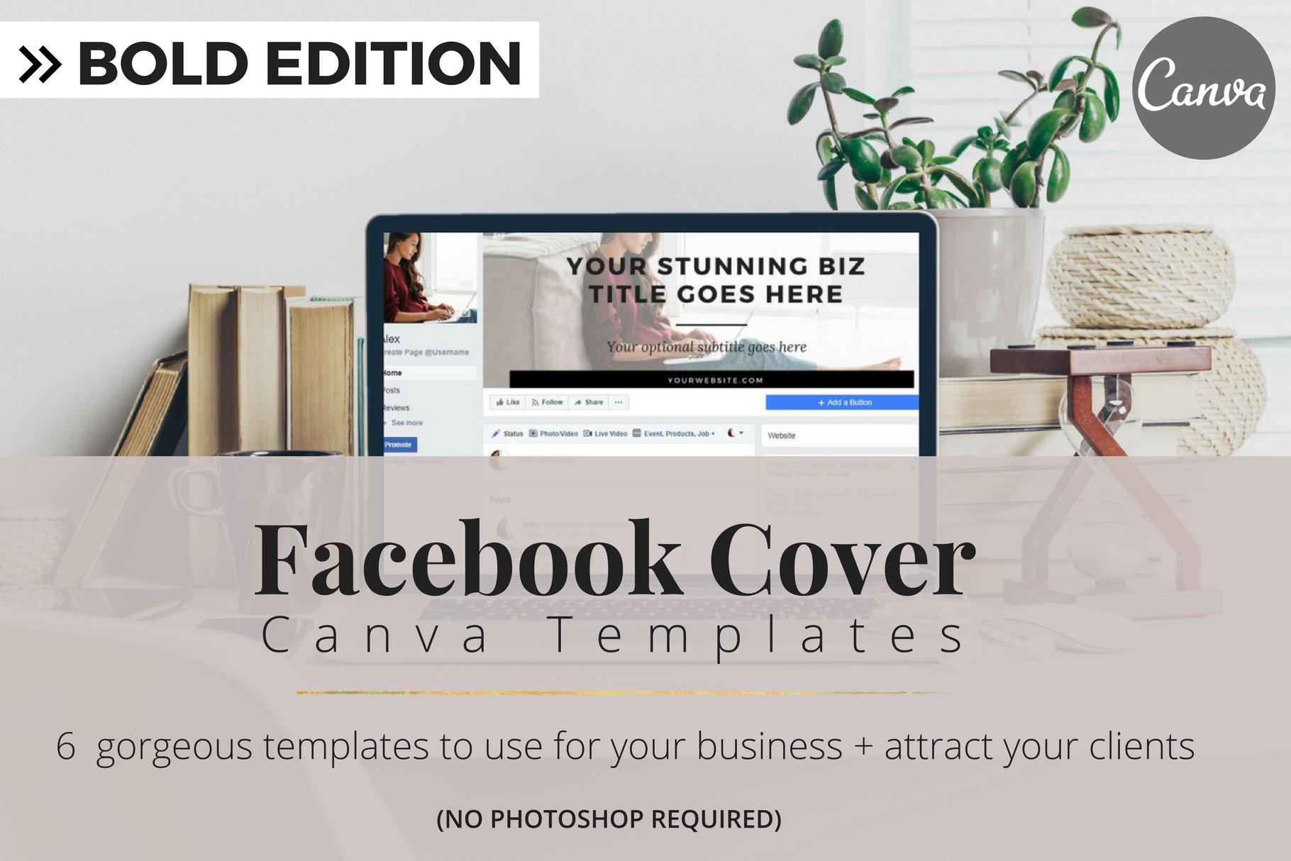 Facebook Cover Templates Bold Ed Facebook Templates Creative Market