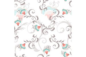 Seamless floral pattern in vintage colors