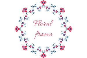 Indian or arabic style floral frame