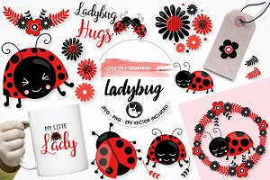 Ladybug graphics and illustrations