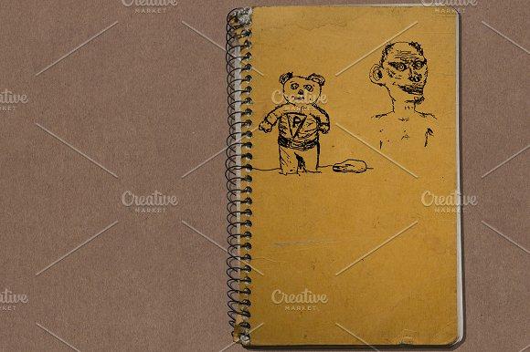 90's Notebook Doodles Vector