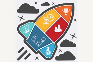 Set of Business and Management Icons