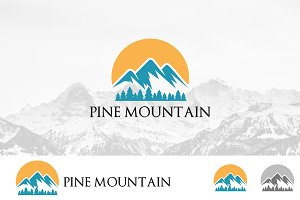 Mountain Sunrise Nature Logo