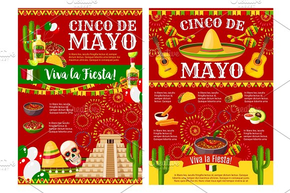Cinco De Mayo Banner For Mexican Holiday Party