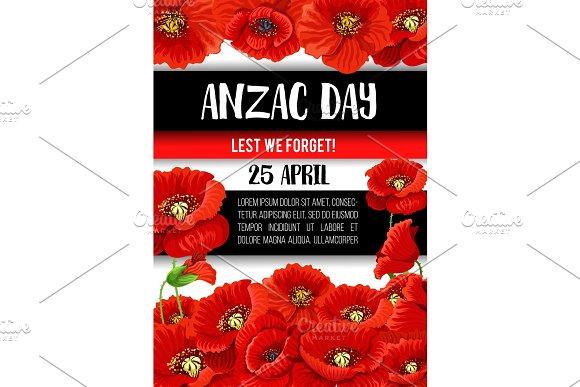 Anzac day poppy flower memorial banner design illustrations anzac day poppy flower memorial banner design illustrations mightylinksfo