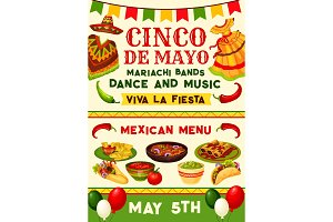 Cinco de Mayo mexican fiesta party invitation