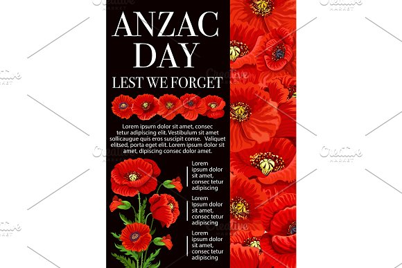 Anzac day poppy flower for lest we forget banner illustrations anzac day poppy flower for lest we forget banner illustrations mightylinksfo
