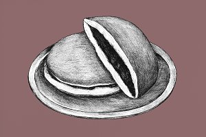 Hand drawn dorayaki (PSD)