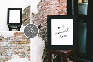 Loft Frame Styled Stock Photo