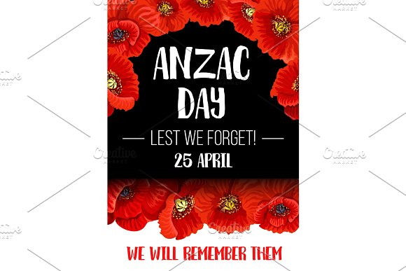 Anzac remembrance day red poppy flower banner illustrations anzac remembrance day red poppy flower banner illustrations mightylinksfo