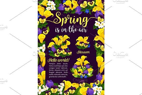 Spring Flower Greeting Card For Springtime Holiday