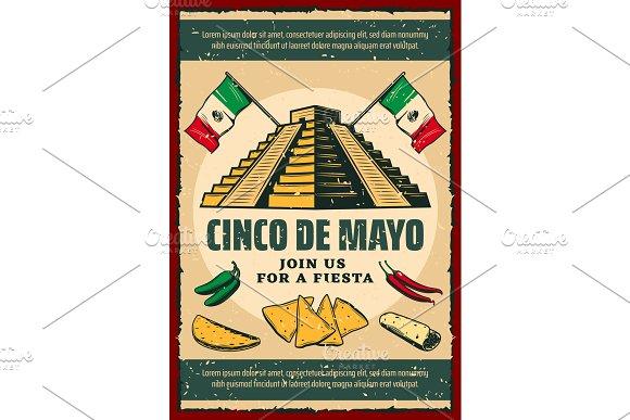 Cinco De Mayo Fiesta Party Retro Invitation Poster