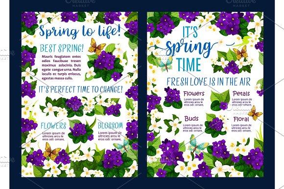 Spring Flower Blossom Poster Of Springtime Holiday
