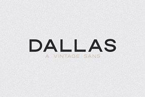 Dallas | A Vintage Sans