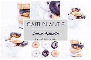 Donut Bundle - black, white, gold