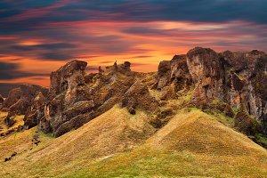 Iceland Sunset Motion Fantasy
