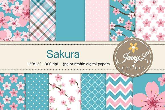 Cherry Blossom Digital Paper