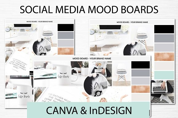 Social Media Mood Boards Copper