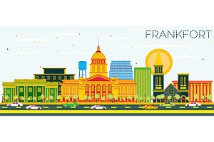 Frankfort Kentucky USA City Skyline
