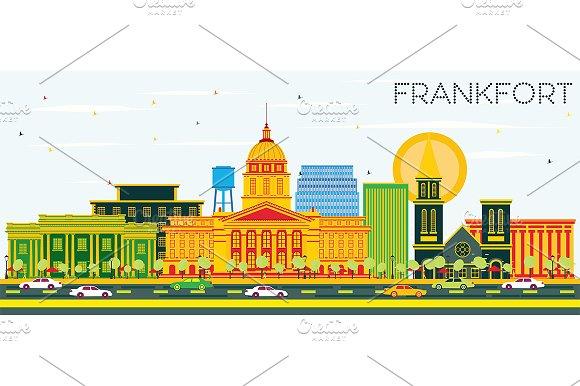 Frankfort Kentucky USA City Skyline